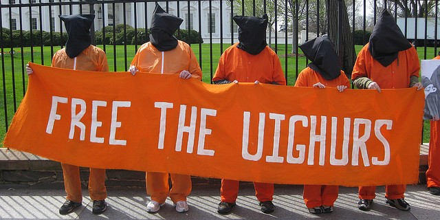 """Free the Uighurs"" protest"